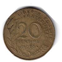 Франция. 20 сантимов. 1963 г.