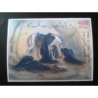 Иран 2002 Конь, живопись блок