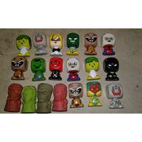 Старт 20 коп. за шт.,15 шт. коллекционных игрушек MARVEL+ бонус-стёрки на карандаш. Распродажа коллекции!