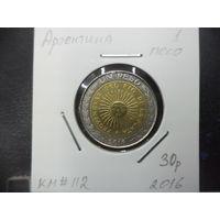 1 песо Аргентины 2016 года. 1