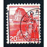 22: Швейцария, почтовая марка, 1936 год, номинал 20с, SG#375A