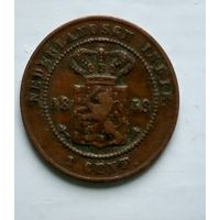 Голландская Ост-Индия 1 цент, 1858 2-8-9