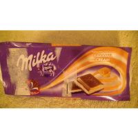 Обёртка от шоколада Milka. распродажа