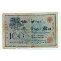 Германия, 100 марок 1908 год.