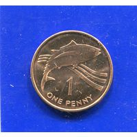 Острова Святой Елены и Вознесения 1 пенни 1997 UNC