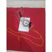 Компас с линейкой и визиром для прокладки азимута работы с картами (новый в упаковке)