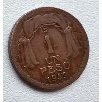 Чили 1 песо, 1949 6-1-24