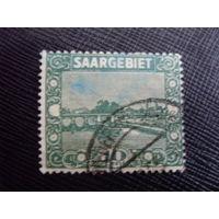 Саар 1922 Французская оккупация. Saar - Mi:DE-SL 86