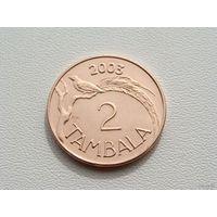 "Малави. 2 тамбала 2003 год  KM#34a  ""Райская птица"""