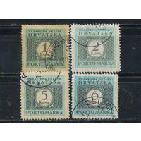 Хорватия НГ 1942-4 Р.Доплатные #12-14,22