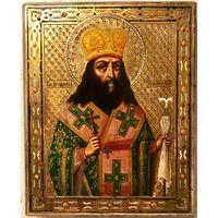 Икона Святой Феодосий Углицкий Архиепископ Черниговский. Троице Сергиева Лавра (клеймо), XIX век.