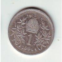 Австрия. 1 крона 1894 г.