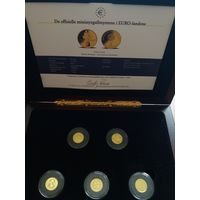 """Норвегия 2007 """"Миниатюрные золотые монеты (Бельгия, Португалия, Испания, Франция, Ирландия)"""" (коробка, сертификаты)"""