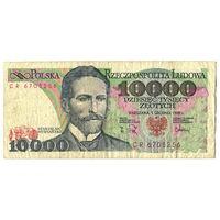 10000 злотых 1988, серия CR, Польша
