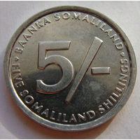 Сомалиленд 5 шиллингов 2002 г