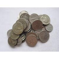 США 52 монеты на 6,8$ (5-10-25-центовики)