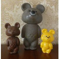 Олимпийские мишки 27,5 см , 16 см и 13,5 см