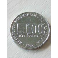 Венесуэла 100 боливар 2004г.