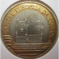 Португалия 200 эскудо 1994 г. Лиссабон – культурная столица Европы. В холдере (gk)