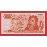 АРГЕНТИНА. 1 песо 1970-73. UNC. 18.889.494   распродажа