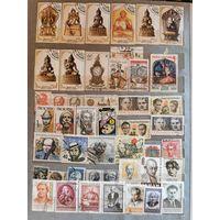 Коллекция марок на различную тематику (фото много, вышлю в почту)