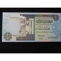 Ливия 1/2 динара 1991г.UNC