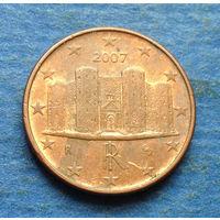 Италия 1 евроцент 2007