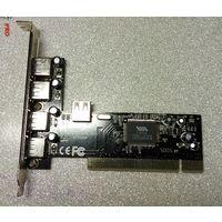 USB 2.0 PCI контроллер, концентратор, hub, хаб