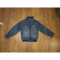 Утеплённая джинсовая куртка 104 рост