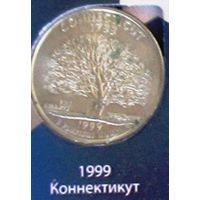 25 центов (квотер) 1999 США Коннектикут