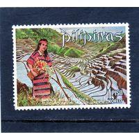 Филиппины.Ми-962. Женщина и банановые рисовые террасы Ifugao. Серия: Туризм и отдых. 1971.