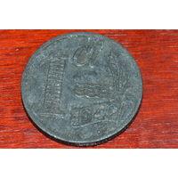 1 цент 1942 Нидерланды КМ#170 цинк