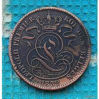 Бельгия 10 центов 1832 года. Лев.