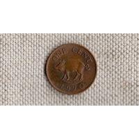 Бермудские острова /Бермуды/ 1 цент 1970 /фауна//(Sx)