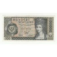 Австрия 100 шиллингов 1969 года. Состояние XF! Нечастая!