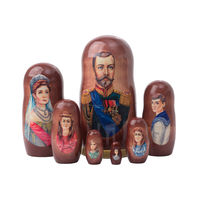 Набор матрешек Николай II и его семья. 7 мест