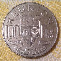 Реюньон 100 франков 1964, Никель, 8,54 г, 26,5 мм  KM#13