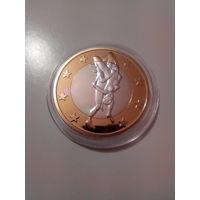 Сувенирная монета 6 секс евро.