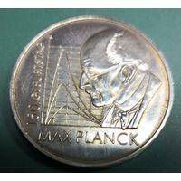 Германия 10 евро 2008 г.  F 150 лет со дня рождения Макса Планка, серебро