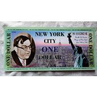 США 1 Ньюёрк сити доллар 1984г.. БОЛЬШАЯ. UNC ПРЕСС   .  распродажа