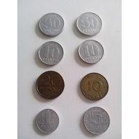 8 монет Германии 1956-1982 года. Одним лотом.