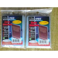 2 упаковки прозрачных протекторов Ultra-Pro для ККИ (200 штук).