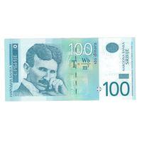Сербия 100 динар 2013 года. Тесла. Состояние UNC!