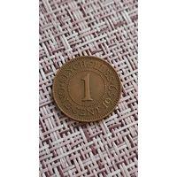 Сейшелы 1 цент 1959 г