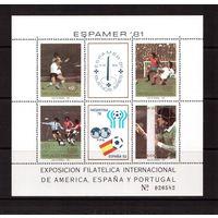Аргентина-1981,(Мих.Бл.21)  **  Спорт, ЧМ-1978-1982 по футболу