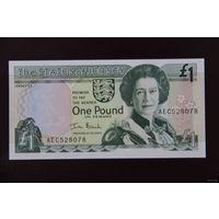 Джерси 1 фунт 2000 UNC