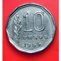 14-14 Аргентина, 10 песо 1966 г.