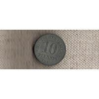 Германия 10 пфеннигов 1918(Ab)