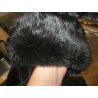 Шапка зимняя натуральный мех кролик