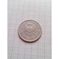 1/2 марки 1905 год.(j).